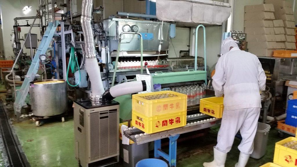 関工場参観日 関牛乳工場