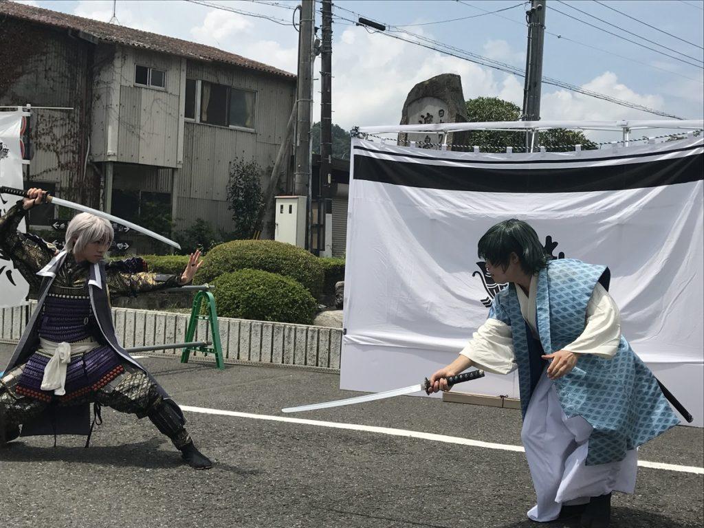 関武将隊 KUMOAGEHAショー