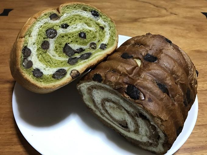 CRAM BON(クラムボン)関店 抹茶とチョコのパン