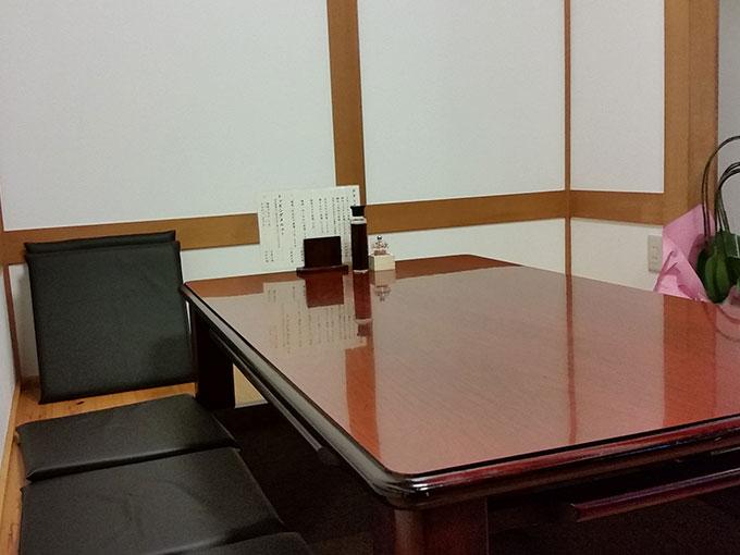 とんかつの太田屋 座敷席