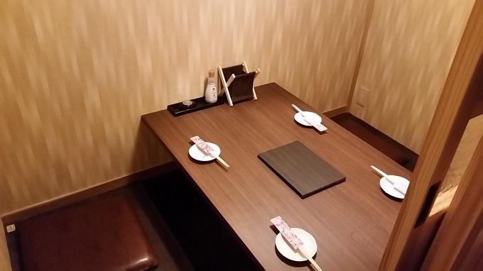 個室居酒屋 GOMAYA(胡麻や)長良店 4人掛け個室席