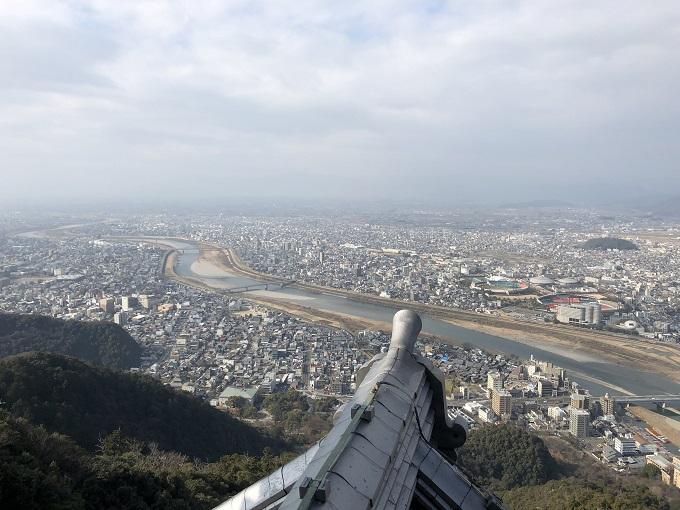 岐阜城 楼上の展望台からの景色
