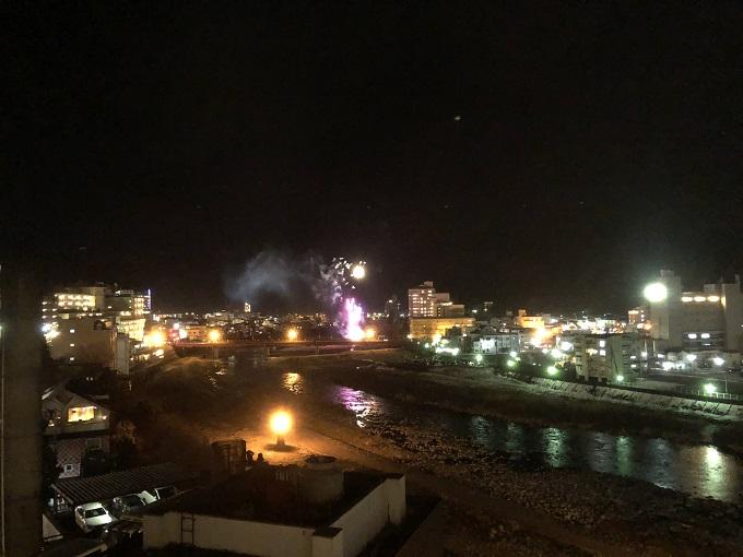 下呂温泉 山形屋 部屋からの花火