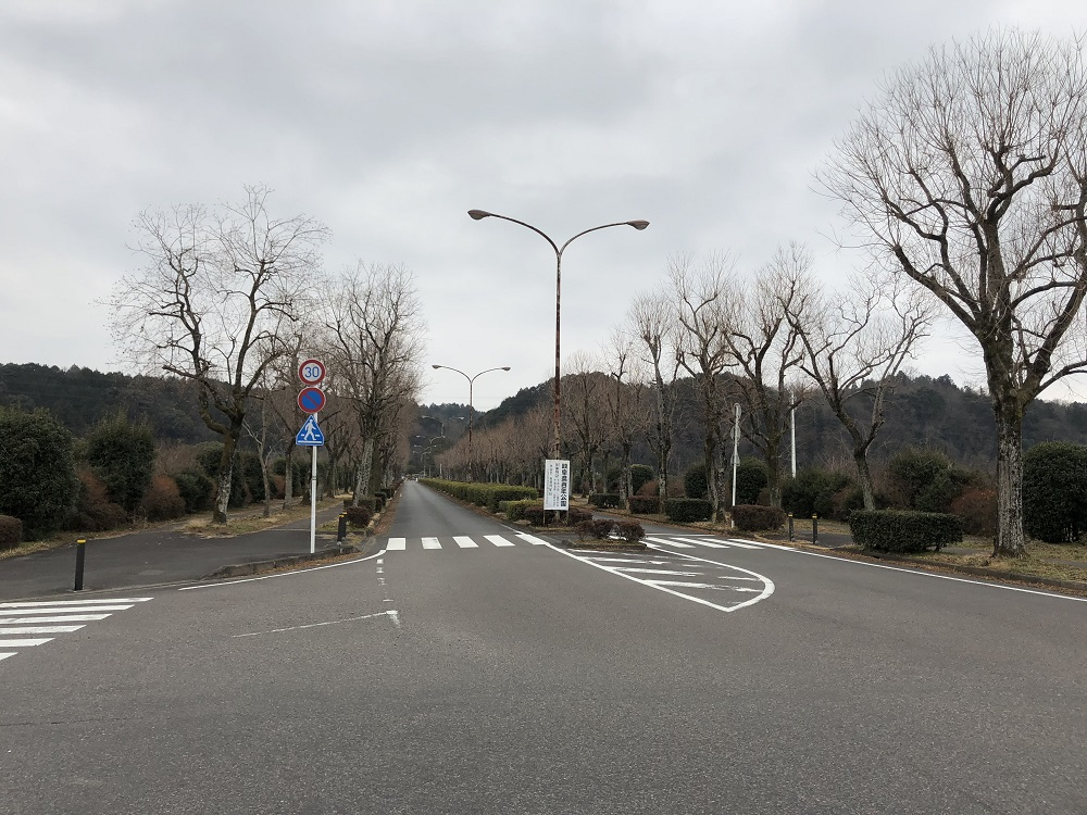 関市 百年公園 北駐車場 入り口