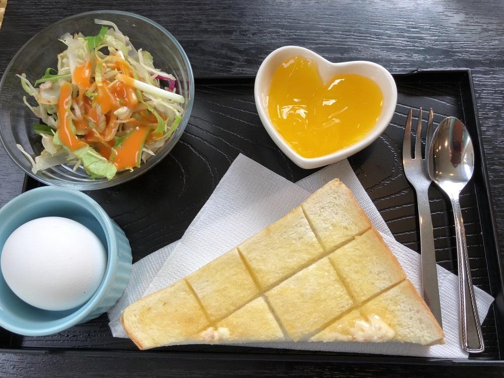 カフェレスト茶居夢 モーニングサービス トースト
