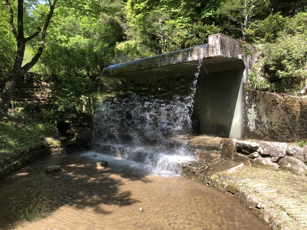 みのかも健康の森 公園 水のカーテン