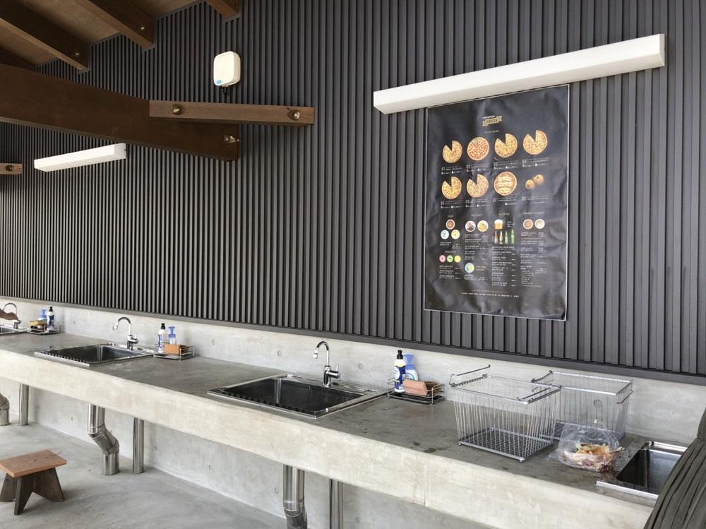 リバーポートパークBBQの調理スペース