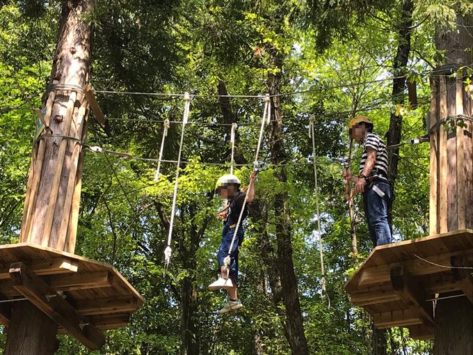 美濃加茂健康の森公園 ツリートップアドベンチャー