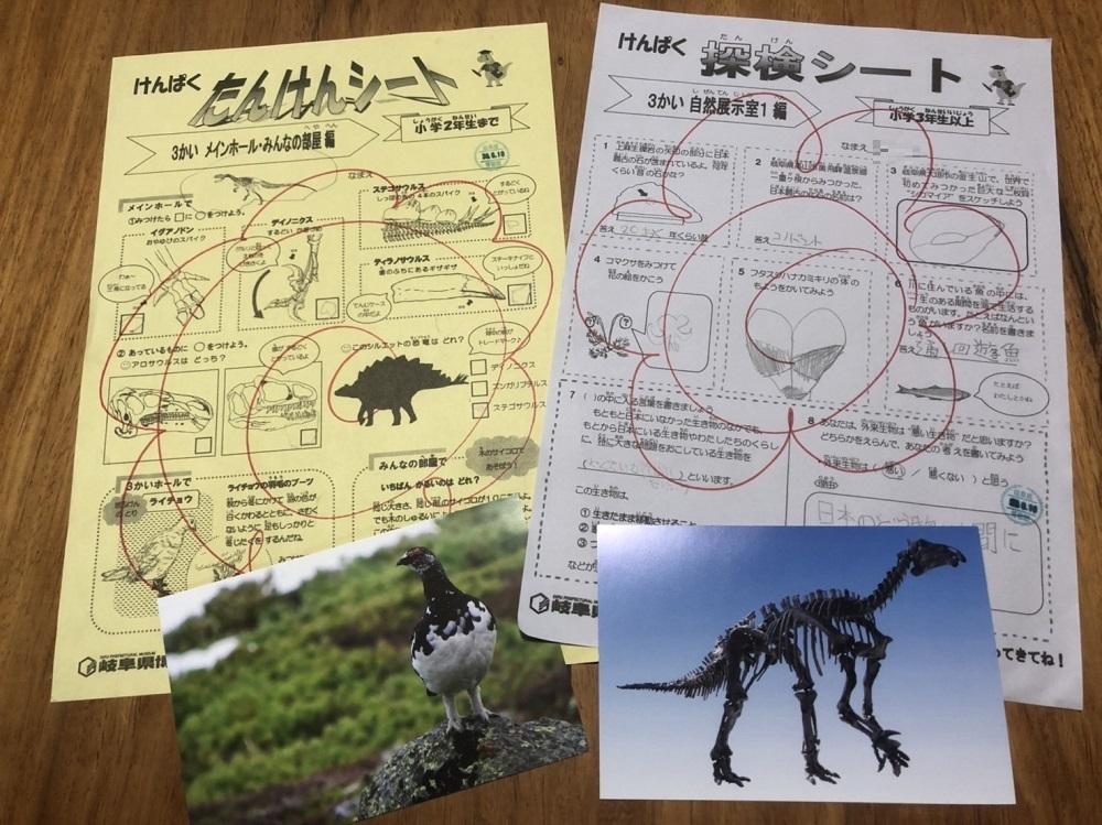 岐阜県博物館 けんぱく探検シート