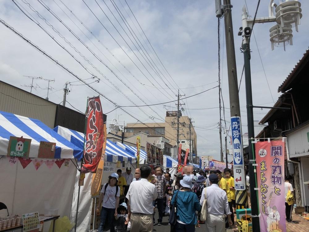 日本ど真ん中「関」ご当地グルメ大会 2018 会場の様子