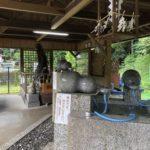 おいしい高賀の森水の取水口である関市洞戸高賀神水庵
