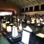 雨天でも開催美濃市の美濃和紙あかりアート展に行ってきた
