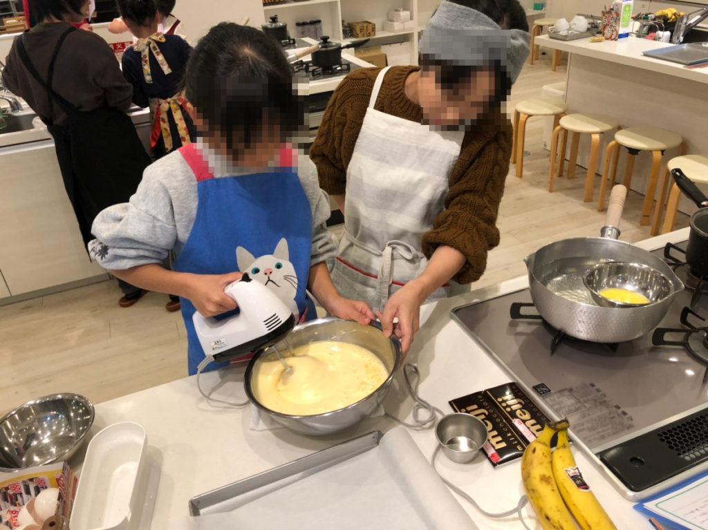 関市の料理教室 マーゴキッチンスタジオの親子クッキング