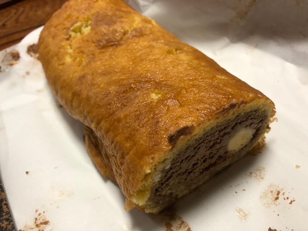 関市の料理教室 マーゴキッチンスタジオの親子クッキング チョコロールケーキ完成