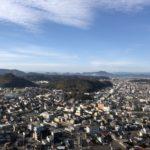 安桜山の展望台を目指して安桜山遊歩道を散策