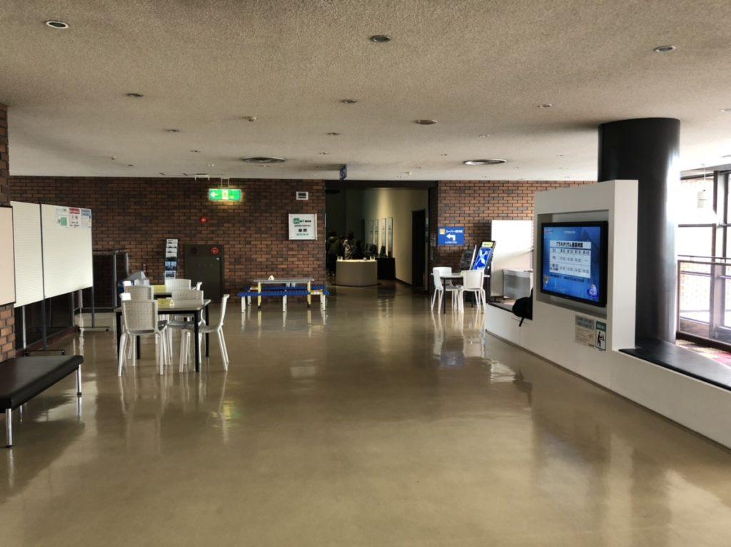 岐阜市科学館の飲食スペース