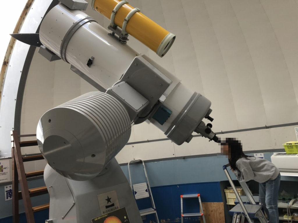 岐阜市科学館の屋外望遠鏡
