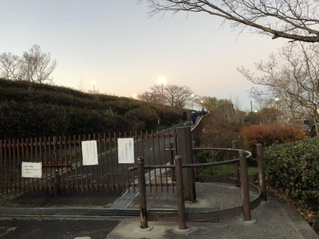 滝の水公園の北側入り口