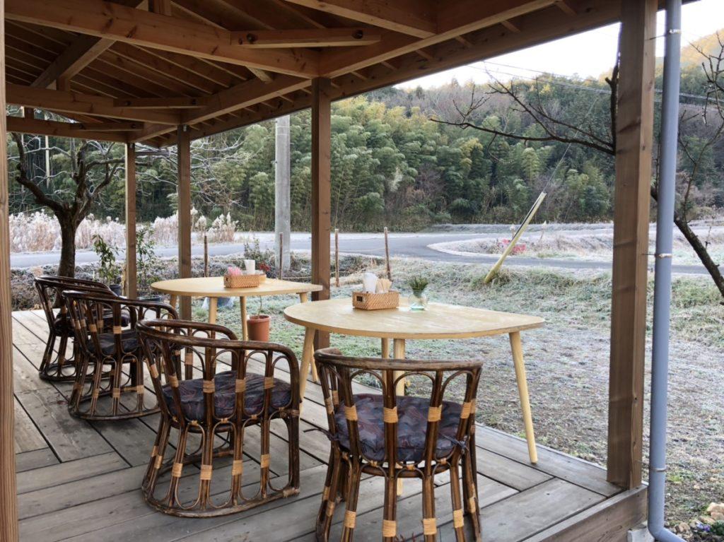 里山カフェ Universalのテラス席