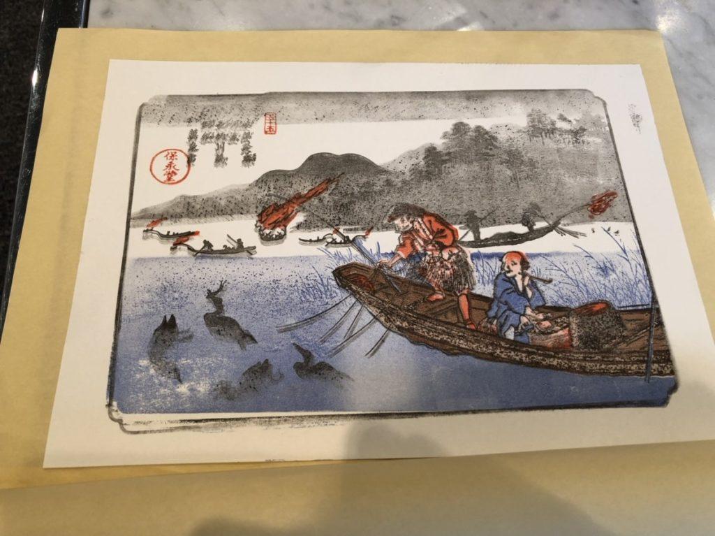 岐阜市歴史博物館で浮世絵の重ねずり