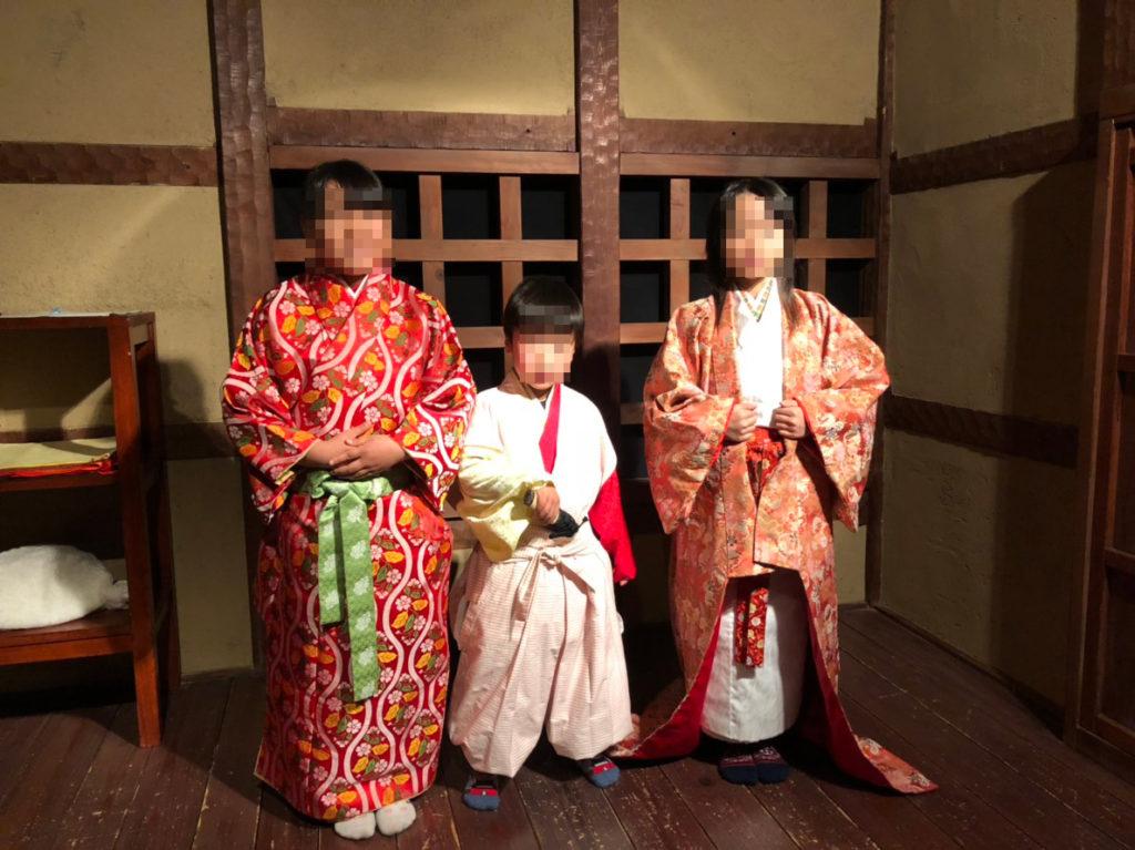 岐阜市歴史博物館で戦国時代の衣装体験