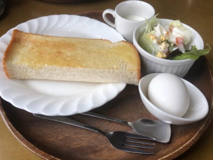南やま珈琲のトーストモーニングセット