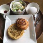 南やま珈琲のデニッシュロールパンモーニングとキッズモーニング