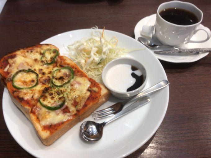 珈琲工房ひぐちのピザトーストモーニング