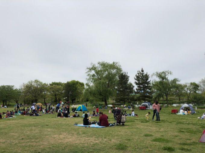 河川環境楽園(オアシスパーク)芝生広場