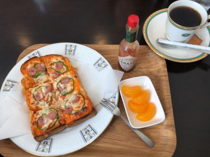 カントリーカフェ Meri Mero(メリメロ)のピザトーストモーニング