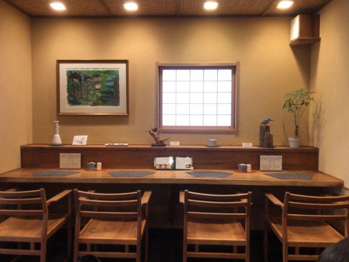 和風喫茶 茶房 鵜衛門のカウンター席