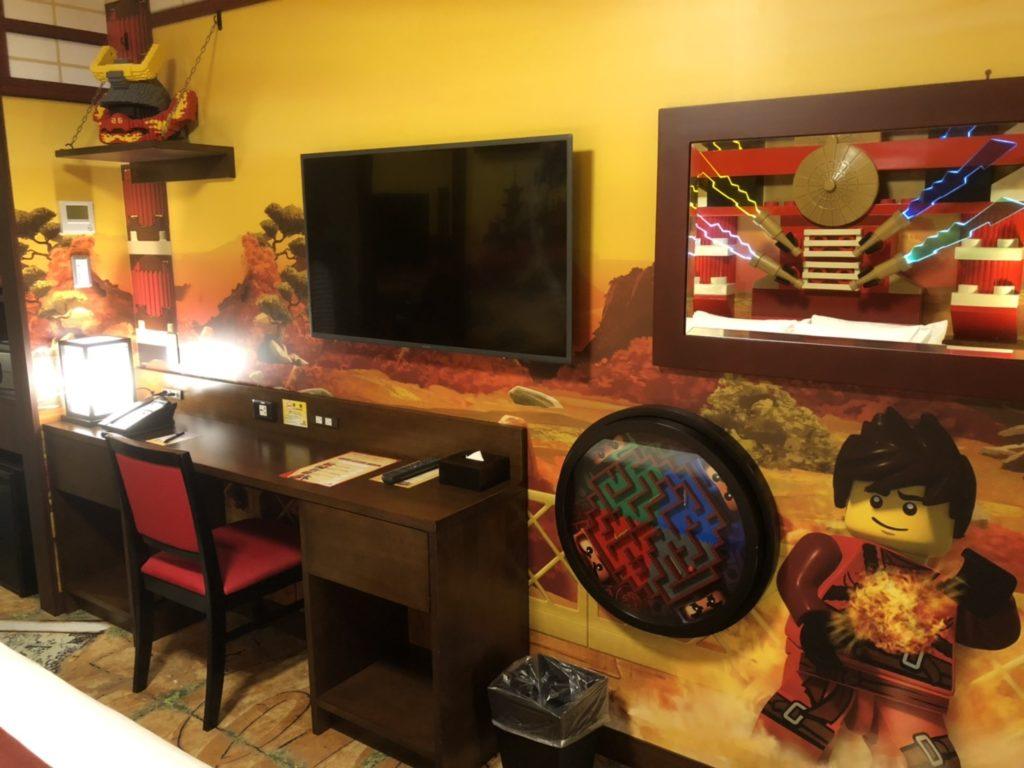 レゴランドホテルのレゴニンジャゴーの部屋