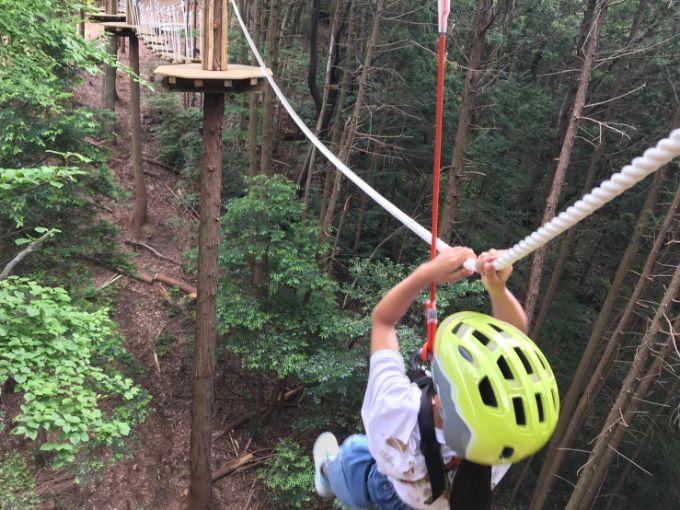 百年公園のツリートップアドベンチャー「冒険の森」難しいアクティビティ