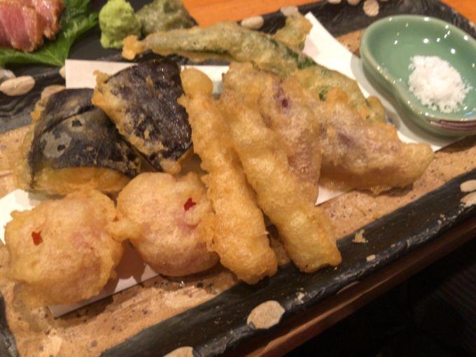 酒籠 ともじの季節の野菜天ぷら