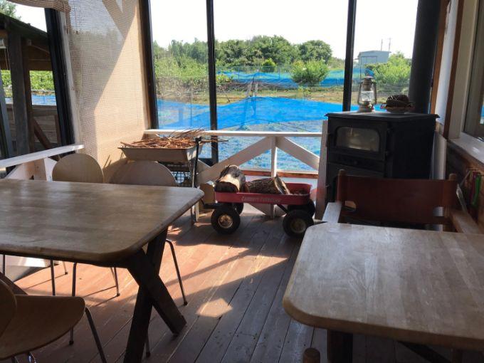 農園カフェ ヤマキマルシェのテラス席
