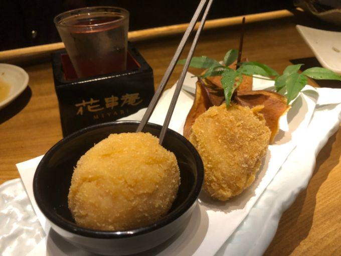 とろーり煮玉子の串揚げ(290円)