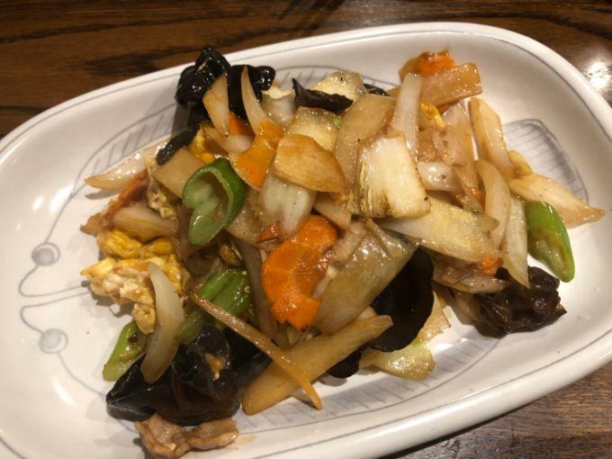 餃子飯店パンダの野菜炒め