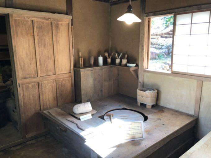 旧荒川豊蔵邸の陶房の中