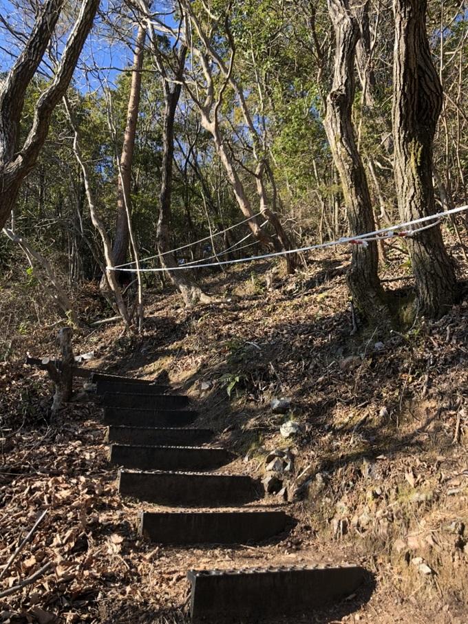 大桑城跡登山道の道中
