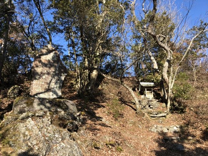 大桑城跡の天守台