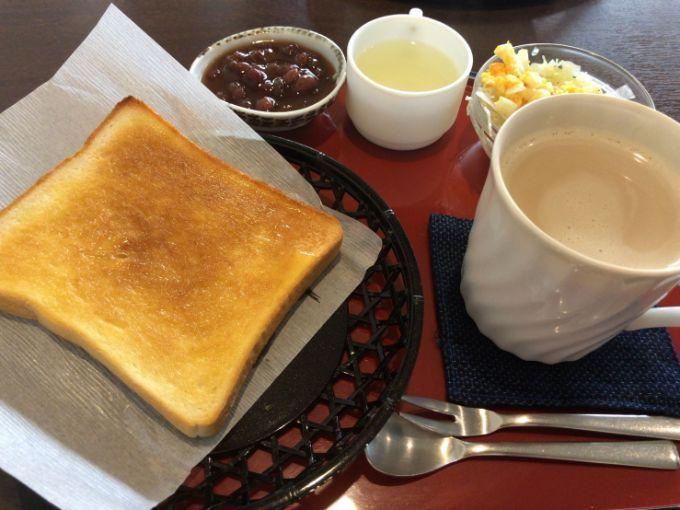 珈琲屋 夢庵(むあん)の小倉トーストモーニング