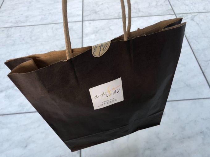 スールミニヨンの紙袋
