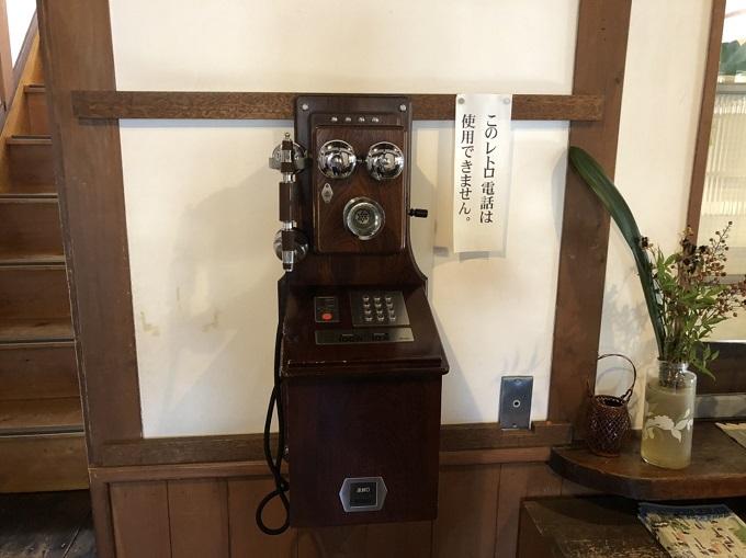 大正村役場のレトロな電話