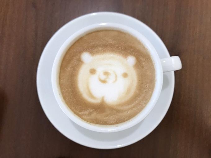 Cafe de L'Eau(カフェドロウ)のラテアート