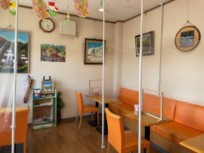 米寿庵のイートインスペース