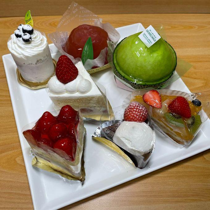 洋菓子cafe グリンデルワルトのケーキ