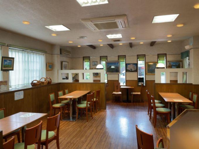 グリンデルワルトのカフェスペース