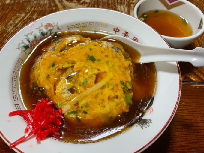 中華園の天津飯