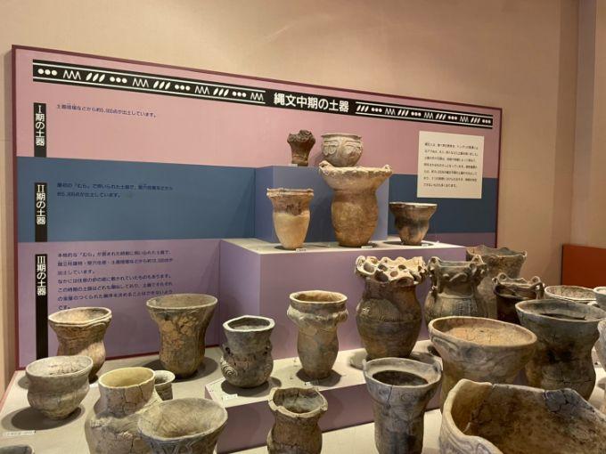 塚原遺跡公園展示館の土器