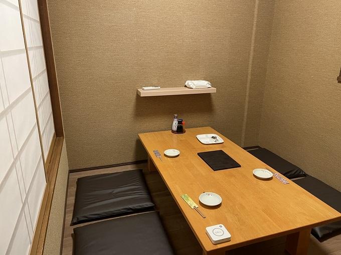 胡麻や 関店の個室 4人関